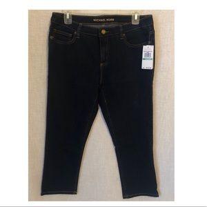 NWT Michael Kors Crop Blue Jeans Pants Size 8